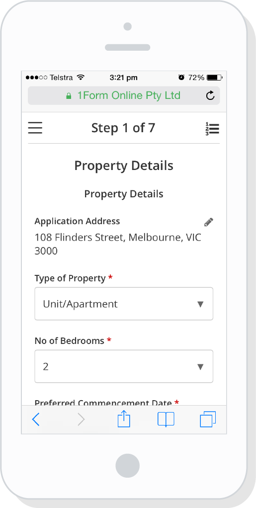 1form Free Online Rental Tenancy Application Form